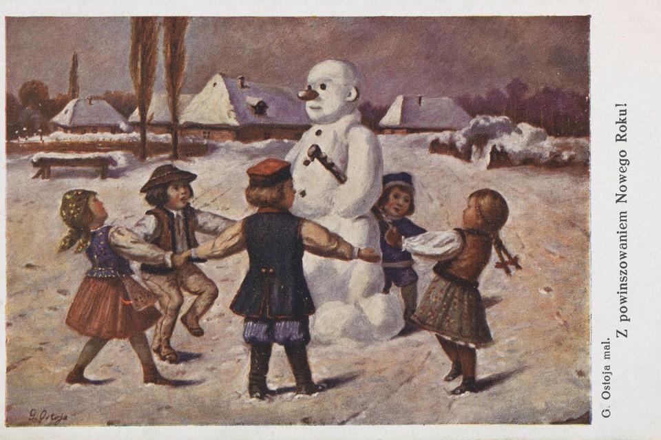 Такие праздничные открытки рассылали горожане в начале ХХ века. Фото: Личный архив