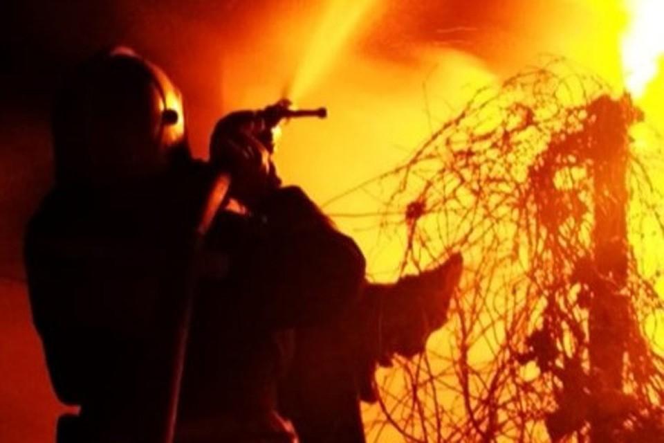 Пожар произошел в ночь на 1 января
