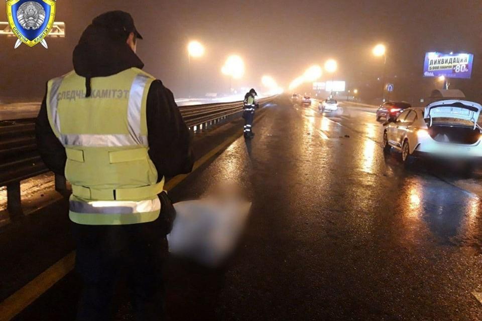 Вечером 3 января на МКАД погиб пешеход. Фото: Следственный комитет.