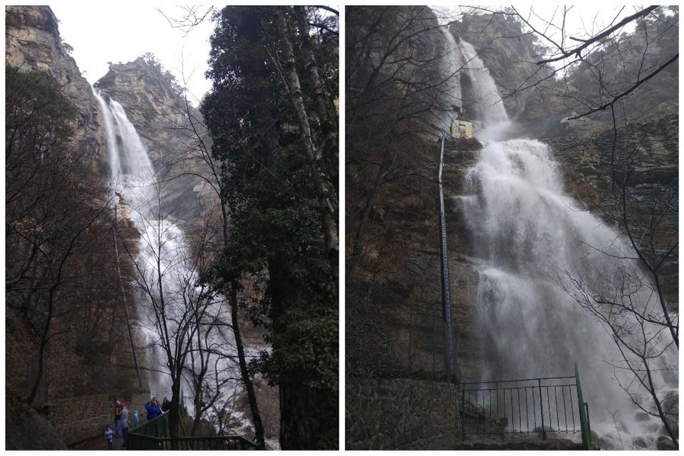 Водопад - величественное природное явление. Фото: Олег Володин/ ПОДСЛУШАНО ЯЛТА/VK