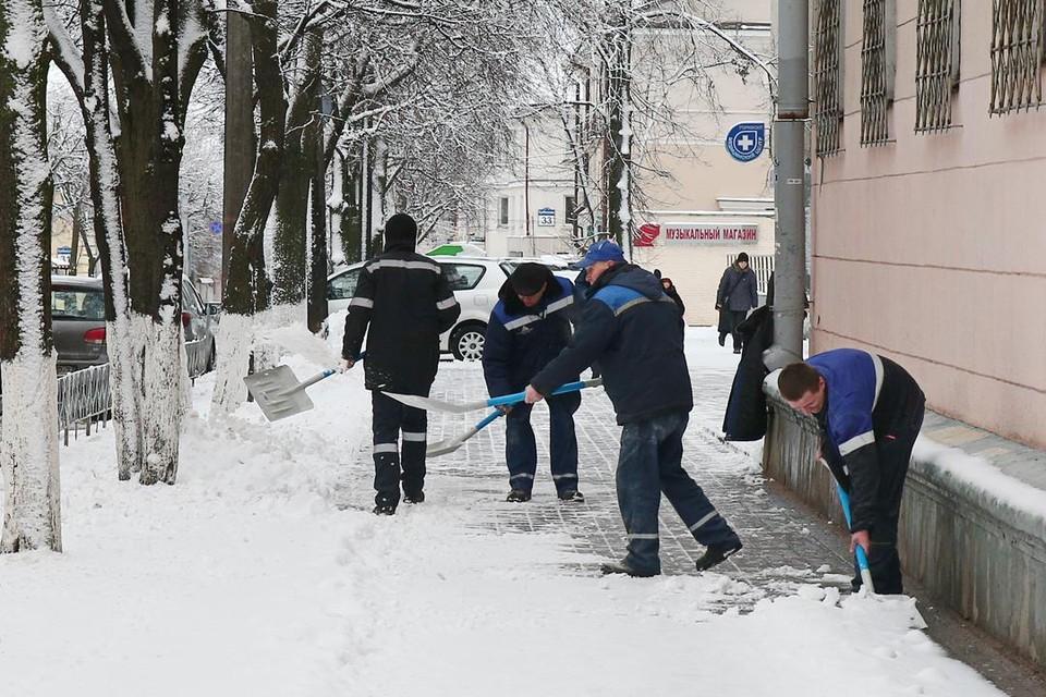 Коммунальщики в Минске чистят снег сутками, и помощь горожан будет не лишней.