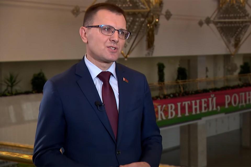 Андрей Кунцевич заявил, что для участников предстоящего Всебелорусского народного собрания Беларусь – это не игра в монополию. Кадр телеканала ОНТ.