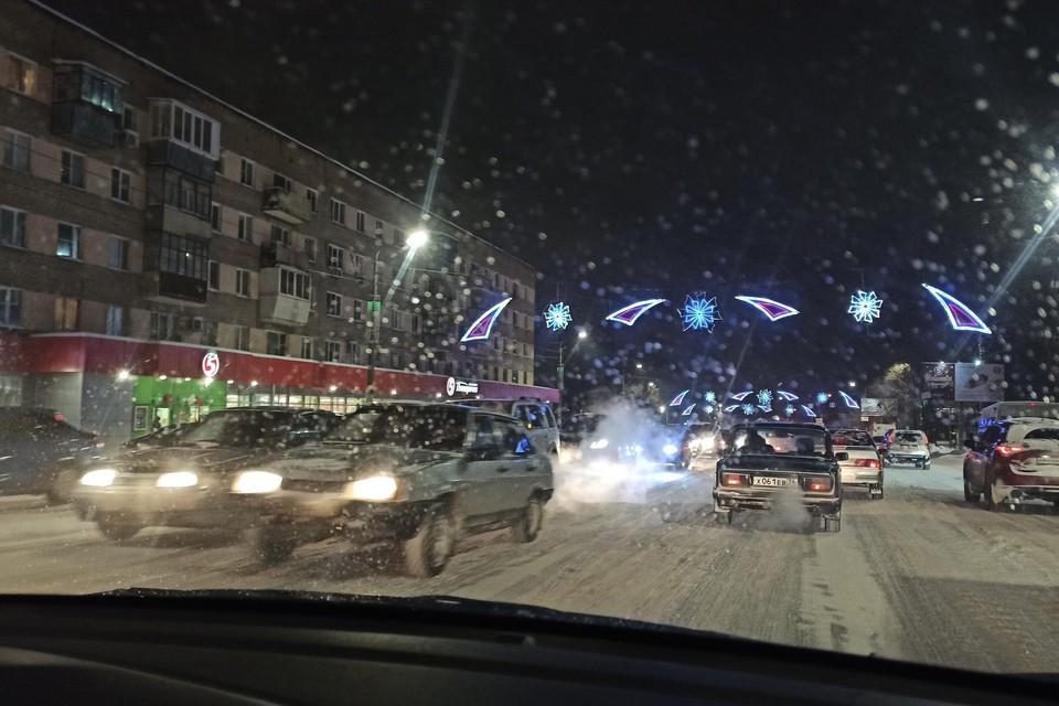 Пробка на улице Доватора. Фото: читатель КП-Челябинск