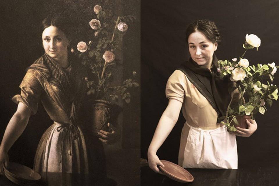 «Девушка с горшком роз» В. Тропинина. Фото: ГУФСИН по Нижегородской области