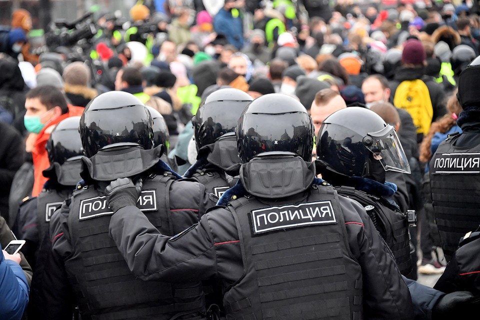 23 января в Москве и крупных городах России прошли несанкционированные протестные митинги