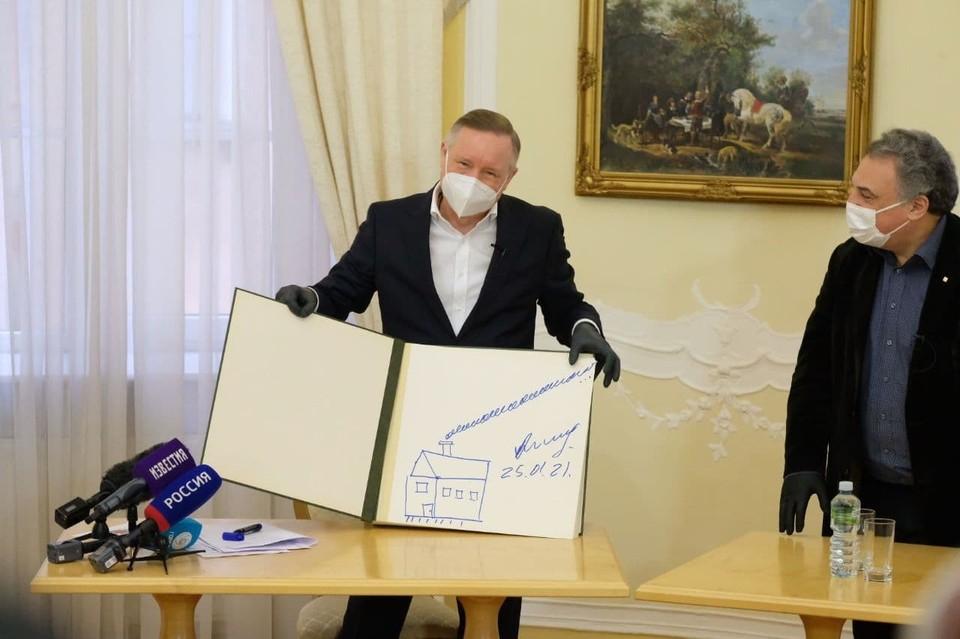 В Татьянин день губернатор Петербурга Александр Беглов приехал к студентам Педагогического университета имени Герцена.