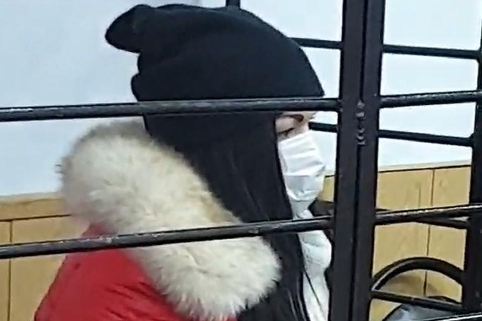 На суде Ольга Барышева вела себя скромно.Фото предоставлено потерпевшими.