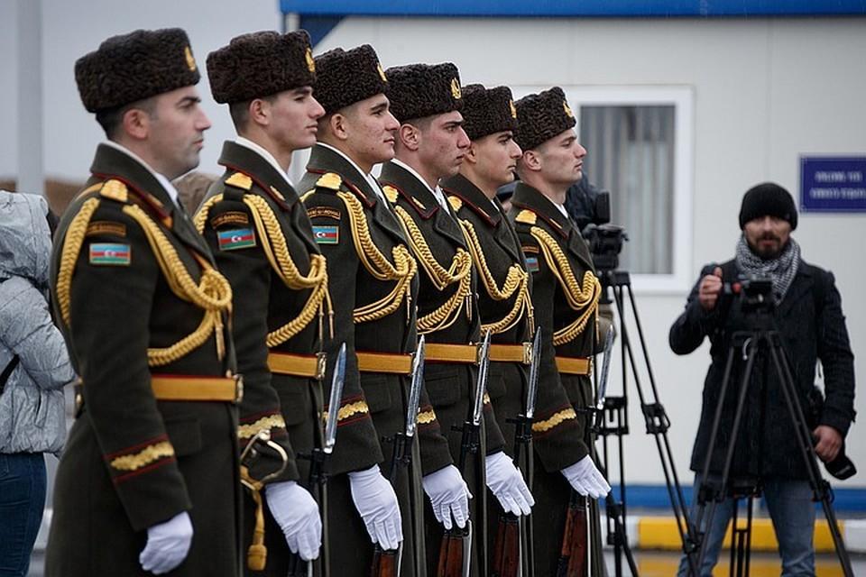 Церемония открытия Совместного российско-турецкого центра по контролю за прекращением огня в Карабахе
