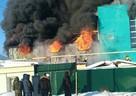 Серьезный пожар в Омске тушат 26 машин и 104 человека: Есть опасность перехода огня на соседние дома