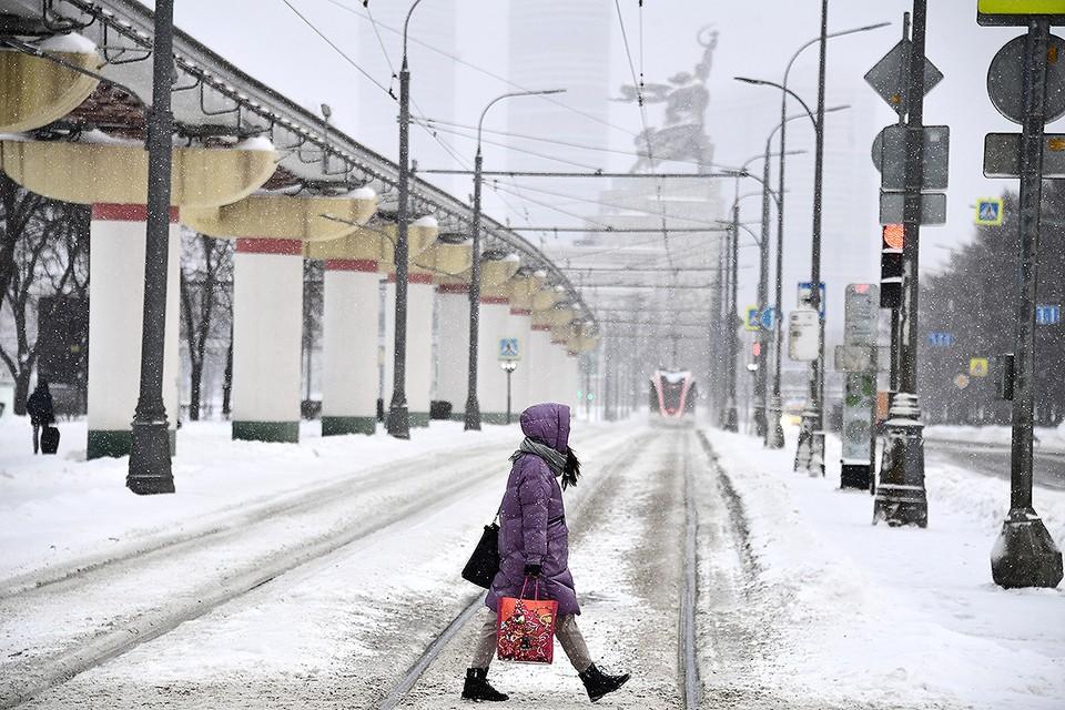 Москву пару дней будет засыпать снегом.