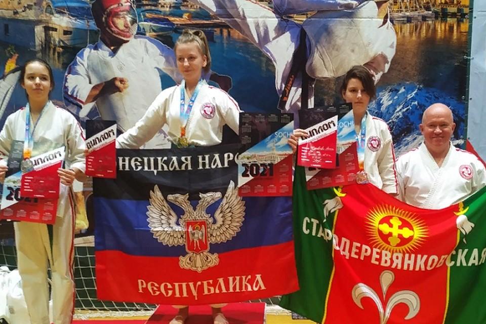 В своей возрастной категории первое место заняла донецкая спортсменка Марина Гайдоба. Фото: пресс-служба администрации города Донецка