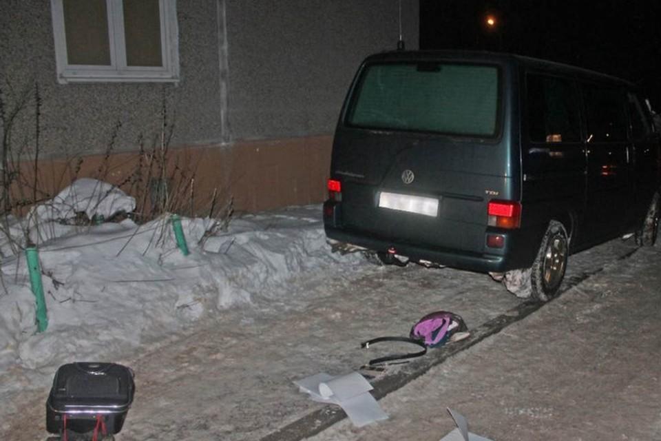 Женщина в Гродно во время ссоры со своим сожителем выбросила его чемодан из окна девятого этажа. Фото: УВД Гродненского облисполкома