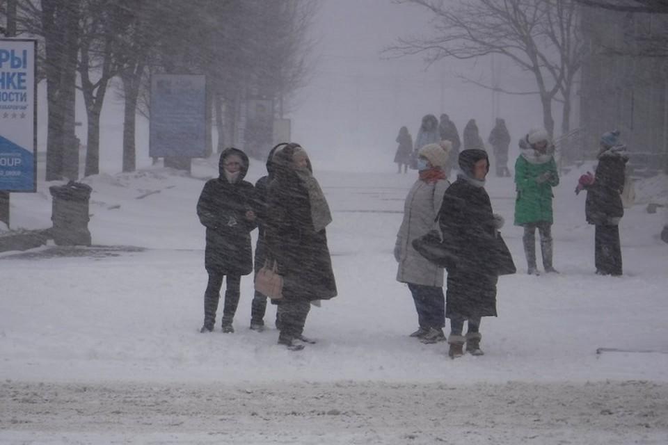 Погода в Хабаровском крае на 17 февраля 2021 года: во всех районах продолжает буйствовать циклон