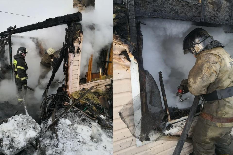 В пожаре погибли три человека. Фото: ГУ МЧС по НСО