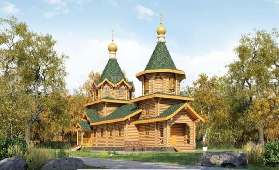Высота нового храма в Нефтяниках
