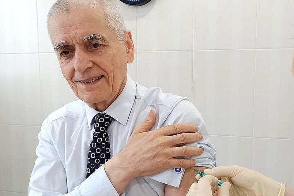 Геннадий Онищенко привился от коронавируса в конце декабря 2020 г.