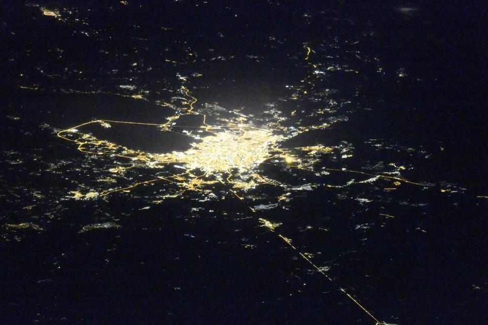 Сделать сложный кадр удалось космонавту Олегу Кононенко. Фото: Роскосмос
