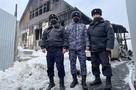 Сотрудники Росгвардии 23 февраля спасли на пожаре пожилую иркутянку