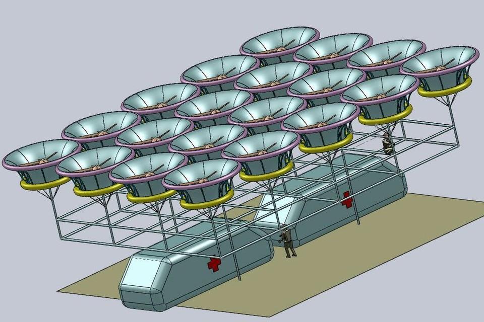 Так может выглядеть «летучий» госпиталь. Фото: www.nstu.ru.