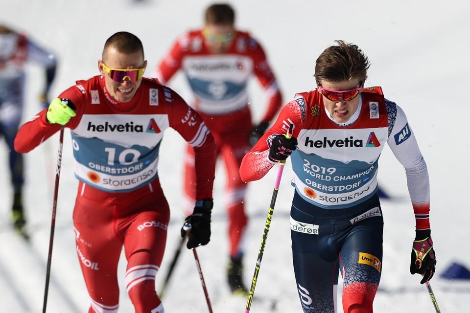 Первая гонка для наших лыжников завершилась неудачно - Большунов стал лишь четвертым.