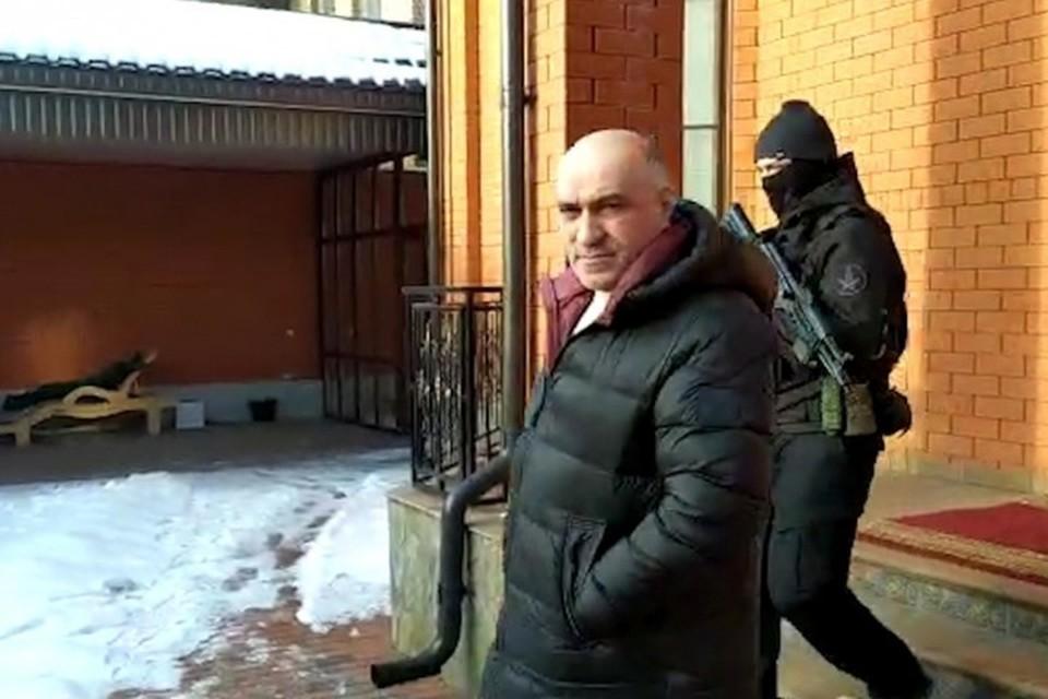 Фрагмент оперативной съемки задержания экс-министра внутренних дел Ингушетии Ахмеда Погорова