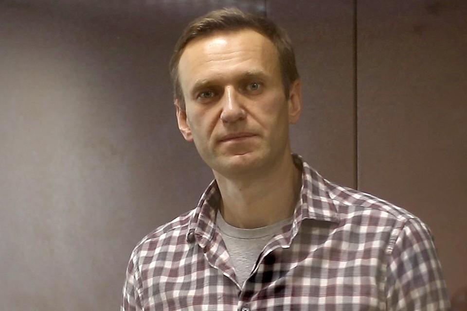 Алексей Навальный во время судебного заседания. Фото: Пресс-служба Мосгорсуда