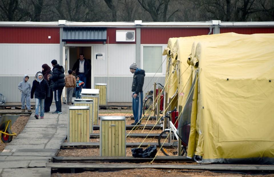 В лагере для сирийских беженцев на юге Дании.