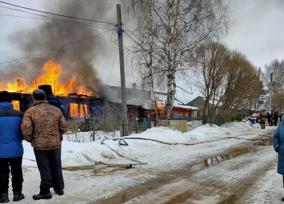 Пожар произошел утром 26 марта