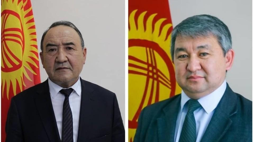 Коллективу Минздрава представили новых заместителей министра: Жалалидина Рахматуллаева (на фото слева) и Улук-Бека Бектурганова.
