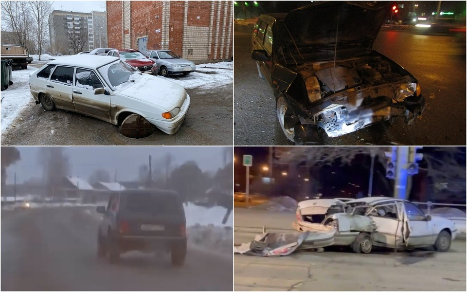 Аварии на дорогах Удмуртии за прошедшую неделю, Фото: 1 отдел УГИБДД, vk.com/chp_dtp_udmurtiya, Yana Anisimova, vk.com/seregovna27
