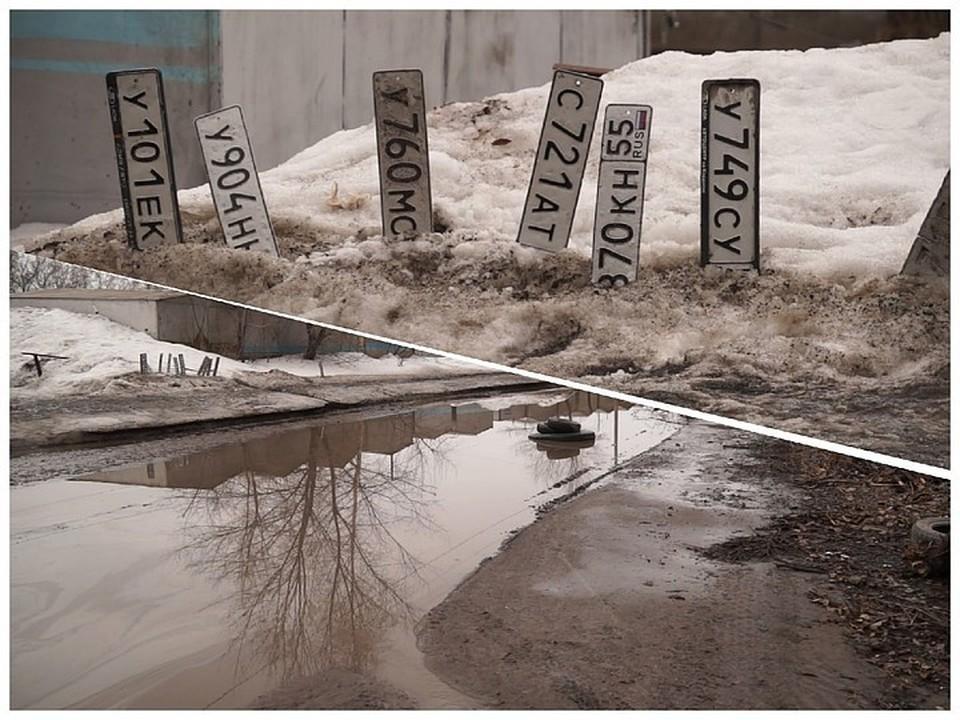 Местные жители утверждают: такая картина тут каждый год. Фото: «Аварийный Омск»