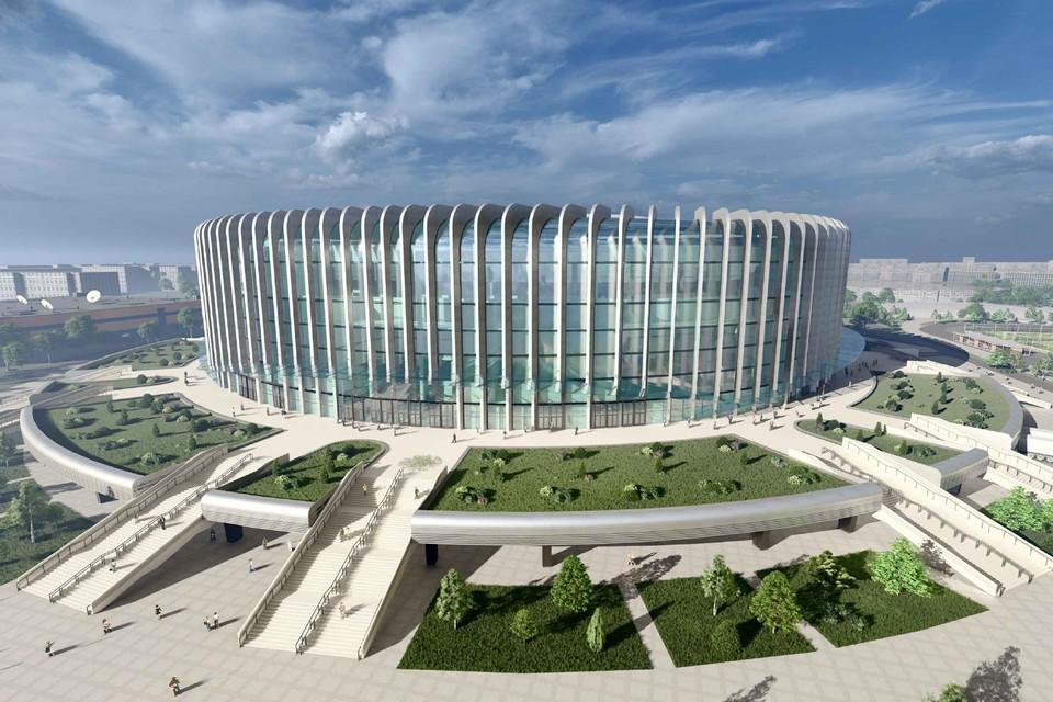 Окончательный внешний вид ледовой арены на месте СКК еще может измениться в процессе строительства. Фото: ООО «СКА-Арена»