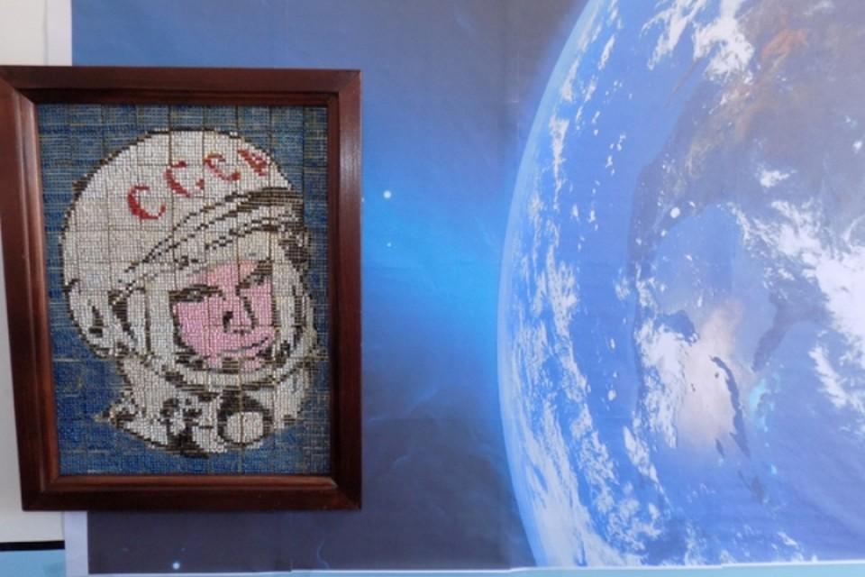 Портрет Гагарина и космодром из спичек создали в Кузбассе. ФОТО: ГУФСИН России по Кузбассу