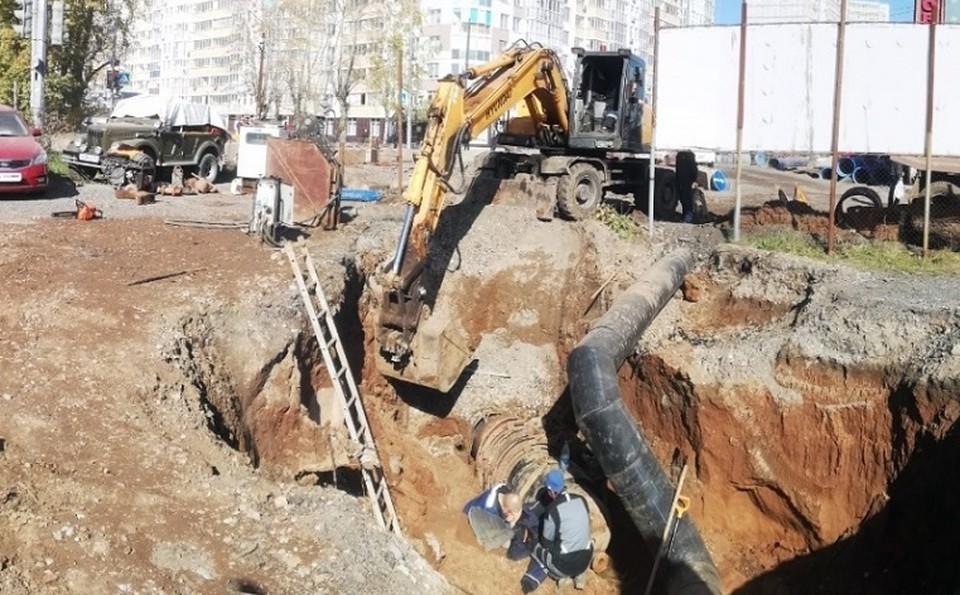 В Перми рабочего засыпало землей при проведении работ. Фото: СКР по Пермскому краю.