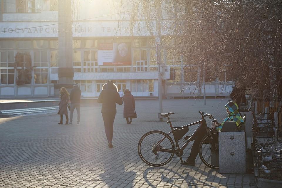 На выходных в Красноярске будет до +7 и появится солнце
