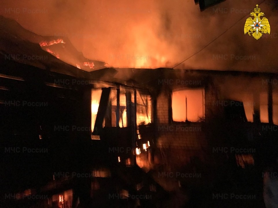 Пожар жилого дома в Тарусе