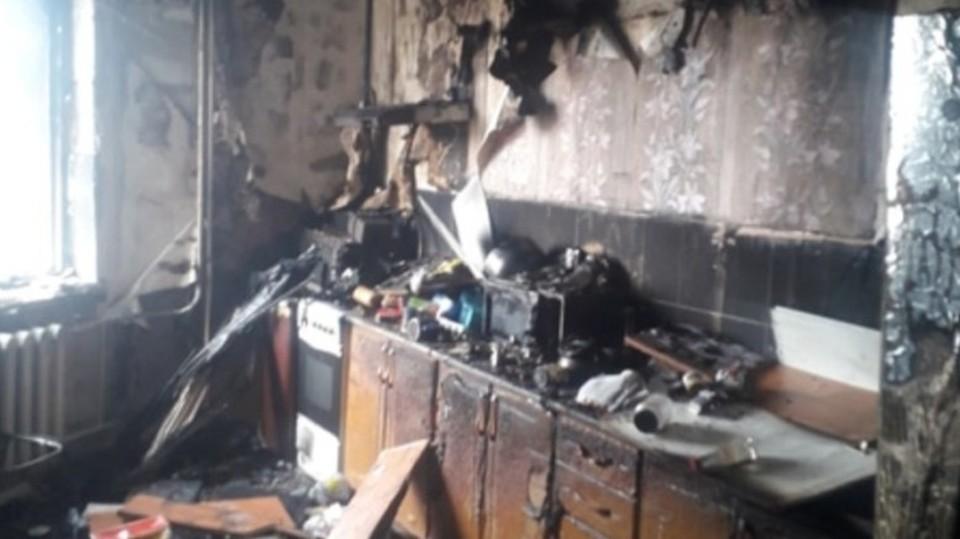 Пожар произошёл утром 19 апреля