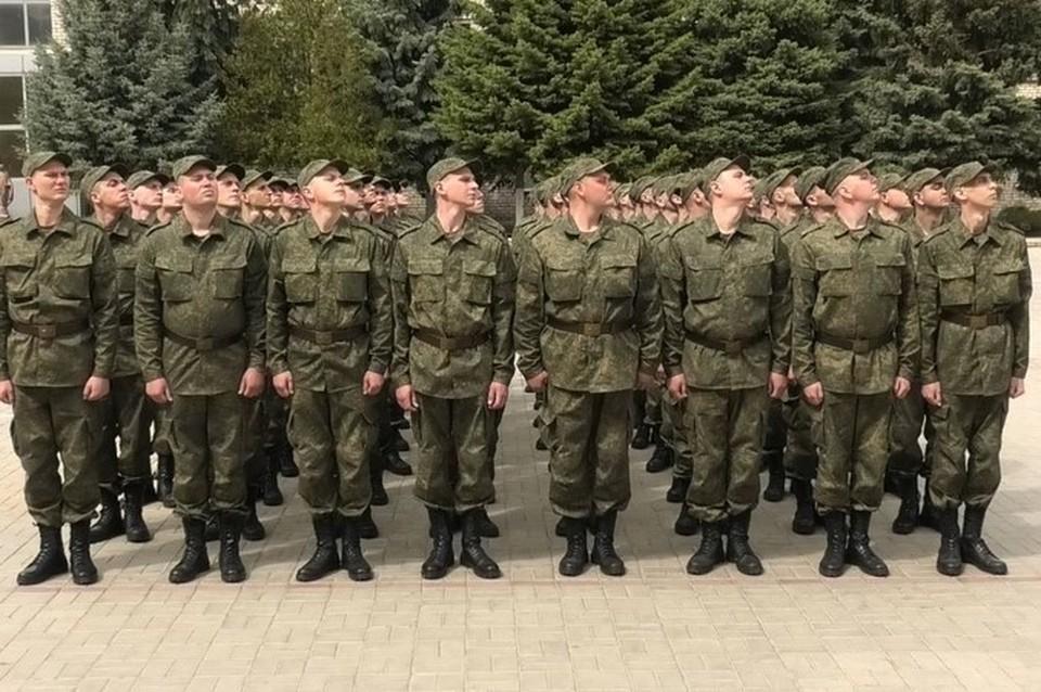 Призывники уже около недели находятся на базе учебного центра Народной милиции ЛНР. Фото: пресс-служба НМ ЛНР