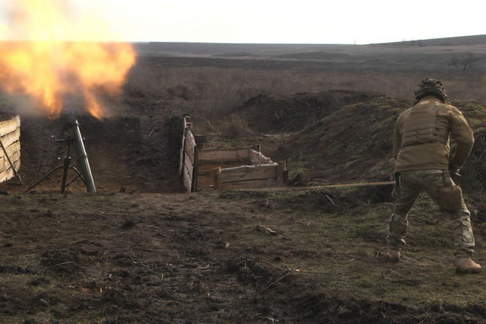 По территории ДНР было выпущено 22 мины. фото: Пресс-центр штаба ООС