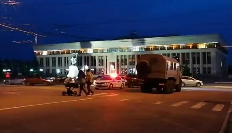 Скрин с видеозаписи. Обстановка после митинга.
