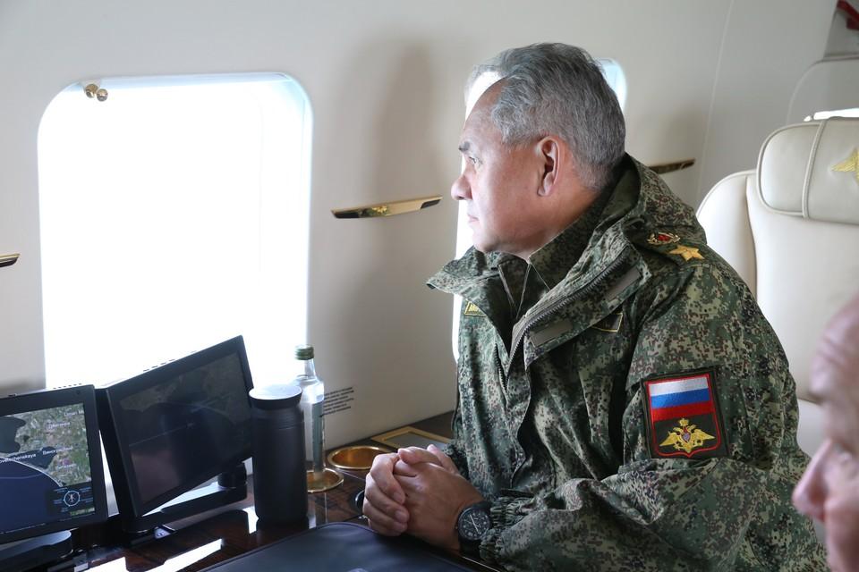 Министр обороны РФ Сергей Шойгу в Крыму.