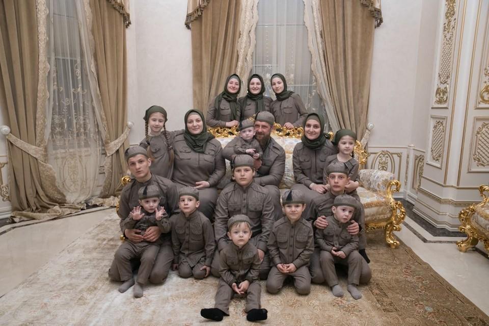 Семья главы Чечни Рамзана Кадырова