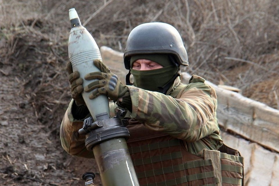 По селам на юге ДНР стреляют 120-миллиметровыми минами. Фото: Пресс-центр штаба ООС