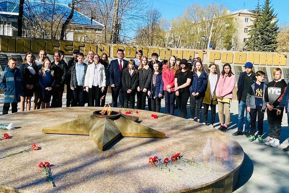 Город Кыштым, мемориальный комплекс «Вечный огонь». Фото предоставлено ООО «НОВАТЭК – Челябинск»