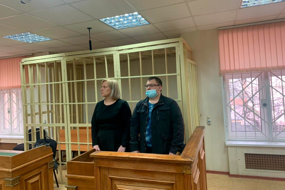 Александр Кобец во время вынесения приговора. Фото пресс-службы Пресненского суда
