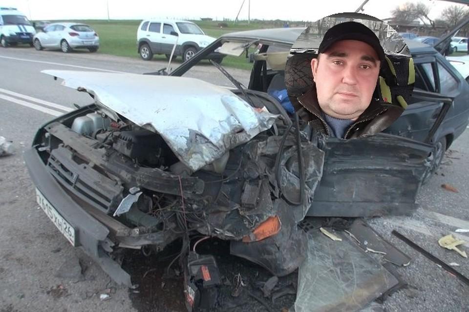 Машина Максима после ДТП превратилась в груду искорёженного железа, а сам он почти не пострадал.