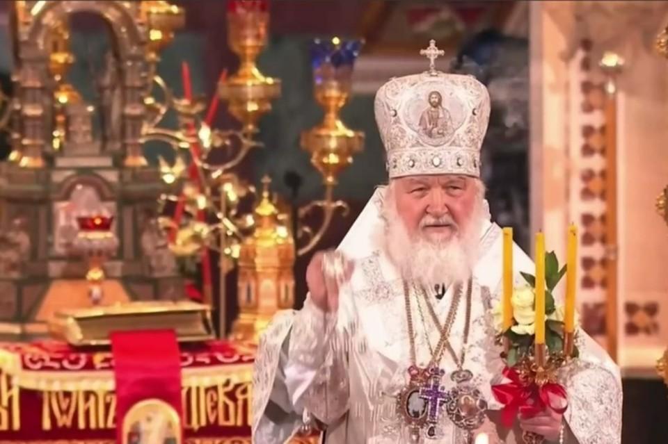 Патриарх Московский и всея Руси Кирилл проводит праздничное пасхальное богослужение в Храме Христа Спасителя