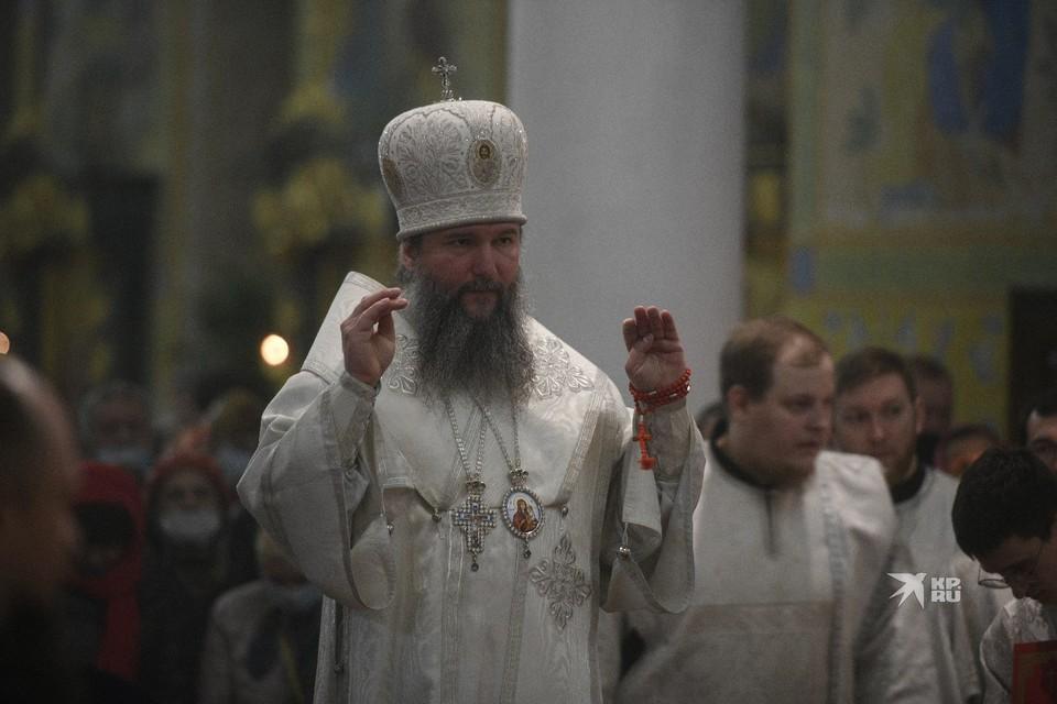 Митрополит Екатеринбургской епархии провел главную Пасхальную службу.