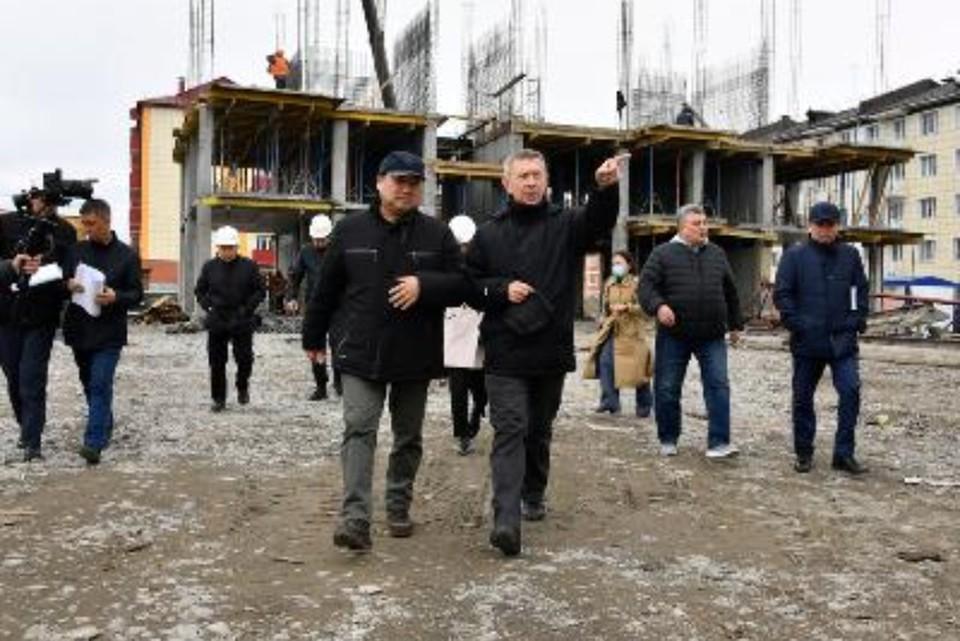 Врио главы республики Тыва посетил стройки Кызыла ФОТО: правительство республики Тыва