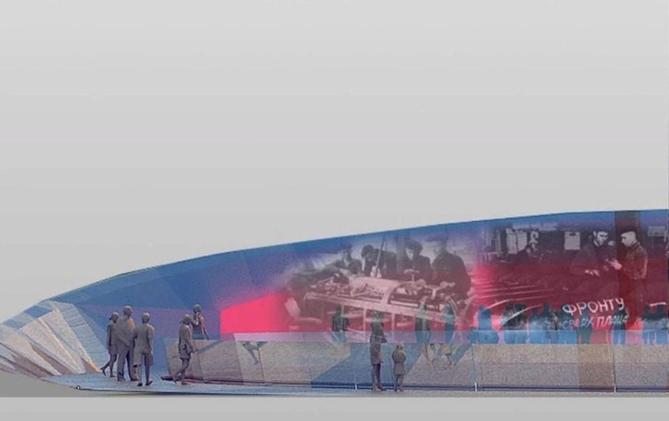 Эскиз будущей стелы «Город трудовой доблести в Ижевске» Фото: izh.ru